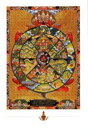 Wheel of Lifeのポストカード / 曼荼羅 シンボル 謎 マントラ 真言 神 ハガキ タンカ マンダラ はがき おみやげ 曼陀羅 仏画 インド 本 印刷物 ステッカー ポスター