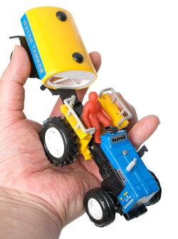 インドの働く車 水タンク車 黄 / おもちゃ 乗り物 自動車 あす楽