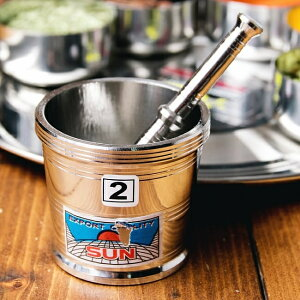スパイスグラインダー No.2 直径 約7.3cm 高さ 約6.5cm / すり鉢 カレー すりつぶす インド 調理器具 食器 アジアン食品 エスニック食材