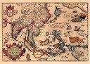 【16世紀】アンティーク地図ポスター INDIAE ORIENTALIS 【南アジア・東アジア・東南アジア周辺】 / 古地図 世界地図 …