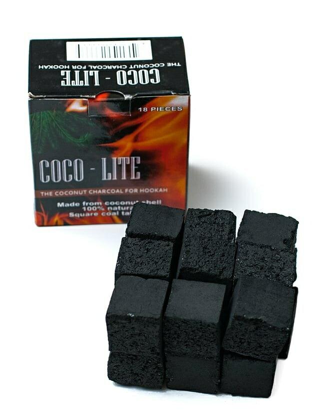 シーシャの炭 COCO LITE COAL 18個入り / 水タバコ フレーバー あす楽