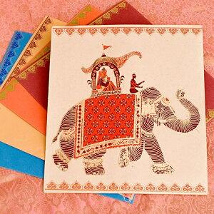 インドの書類ファイル / Chimanlals チマンラール A4 Chimanlals(チマンラール) 便箋 レターセット 封筒 メッセージカード エスニック アジア 雑貨