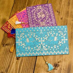 インドの封筒 GAJENDRA / プレゼント 手紙 ポストカード エンベロープ envelope チマンラール Chimanlals 便箋 レターセット メッセージカード エスニック アジア 雑貨
