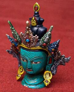 【送料無料】 ターラー菩薩 高さ:約19 / ネパール 像 神様 仏像 チベット 密教 ブッダ像 エスニック インド アジア 雑貨