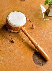 インドネシアのでんでん太鼓 【小】 / バリ 打楽器 民族楽器 インド楽器 エスニック楽器 ヒーリング楽器