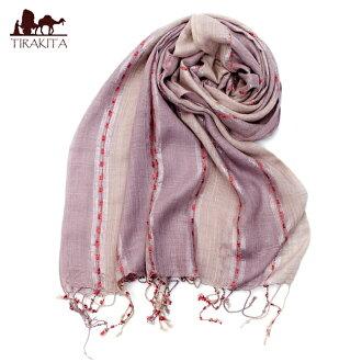 彩色条纹的围巾-| 失速排气室内装饰织物亚洲布印度民族