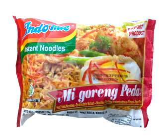 Instant Mie Goreng spicy Indonesia food, Indonesia, instant, fried noodles, Mie Goreng, vindaloo, halal