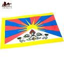 チベットの国旗 55cm x 36cm 【レビューで200円クーポン進呈&あす楽】 チベタン インド エスニック アジア 雑貨