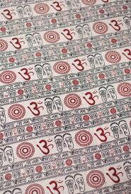 1m切り売り 薄手コットンのインド伝統模様布【幅113cm程度】 / 量り売り布 アジア布 手芸 裁縫 ファブリック エスニック
