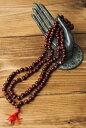 インドの数珠 紫光白檀赤紐 / ネックレス 首飾り あす楽