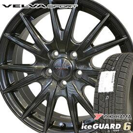 【取付対象】【2018年製】 235/50R18 ヨコハマ アイスガード6 iG60 スタッドレスタイヤ ホイールセット 4本 YOKOHAMA iceGUARD6 ヴェルヴァ スポルト SPORT 18-8.0J 車種例 アルファード ベルファイア