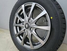 【数量限定ポイント5倍】スタッドレスタイヤホイールセット 155/65R14 ブリヂストン BRIDGESTONE BLIZZAK VRX EURO SPEED G10 4.5-14 43mm 4H 100mm メタリックグレー