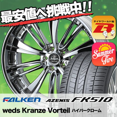 225/35R20 90Y XL FALKEN ファルケン AZENIS FK510 アゼニス FK510 weds Kranze Vorteil ウェッズ クレンツェ ヴォルテイル サマータイヤホイール4本セット
