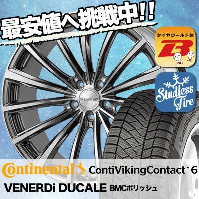 255/35R20 CONTINENTAL コンチネンタル ContiVikingContact6 コンチバイキングコンタクト6 VENERDi DUCALE ヴェネルディ ドゥカーレ スタッドレスタイヤホイール4本セット