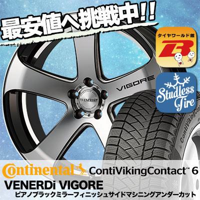 235/35R19 CONTINENTAL コンチネンタル ContiVikingContact6 コンチバイキングコンタクト6 VENERDi VIGORE ヴェネルディ ヴィゴーレ スタッドレスタイヤホイール4本セット
