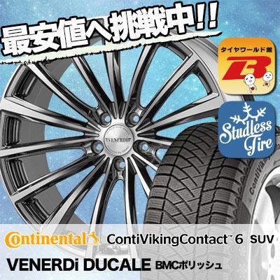 235/50R18 CONTINENTAL コンチネンタル ContiVikingContact6 SUV コンチバイキングコンタクト6 SUV VENERDi DUCALE ヴェネルディ ドゥカーレ スタッドレスタイヤホイール4本セット