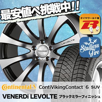 235/50R18 CONTINENTAL コンチネンタル ContiVikingContact6 SUV コンチバイキングコンタクト6 SUV VENERDi LEVOLTE ヴェネルディ レヴォルテ スタッドレスタイヤホイール4本セット