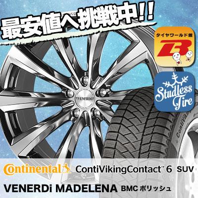 225/60R18 CONTINENTAL コンチネンタル ContiVikingContact6 SUV コンチバイキングコンタクト6 SUV VENERDi MADELENA ヴェネルディ マデリーナ スタッドレスタイヤホイール4本セット