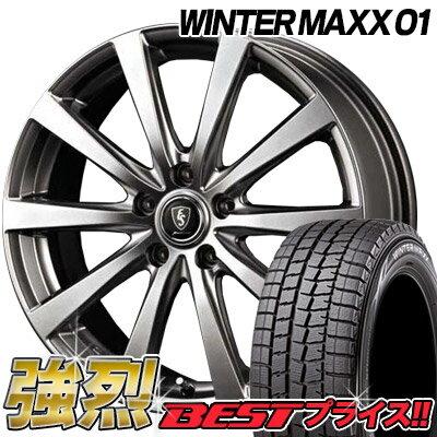 DUNLOP ダンロップ WINTER MAXX01(WM01) ウィンターMAXX 01 215/60R17 96QEuro Speed G10ユーロスピード G10スタッドレスタイヤホイール4本セット 送料無料
