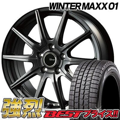 195/65R15 91Q DUNLOP ダンロップ WINTER MAXX 01 WM01 ウインターマックス 01 V-EMOTION GS10 Vエモーション GS10 スタッドレスタイヤホイール4本セット