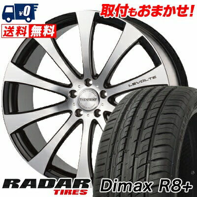 265/40R22 106W XL RADAR レーダー Dimax R8+ ディーマックス アールエイト プラス VENERDi LEVOLTE ヴェネルディ レヴォルテ サマータイヤホイール4本セット