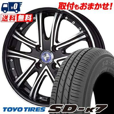 165/55R15 75V TOYO TIRES トーヨー タイヤ SD-K7 エスディーケ−セブン Warwic DS.05 ワーウィック DS.05 サマータイヤホイール4本セット