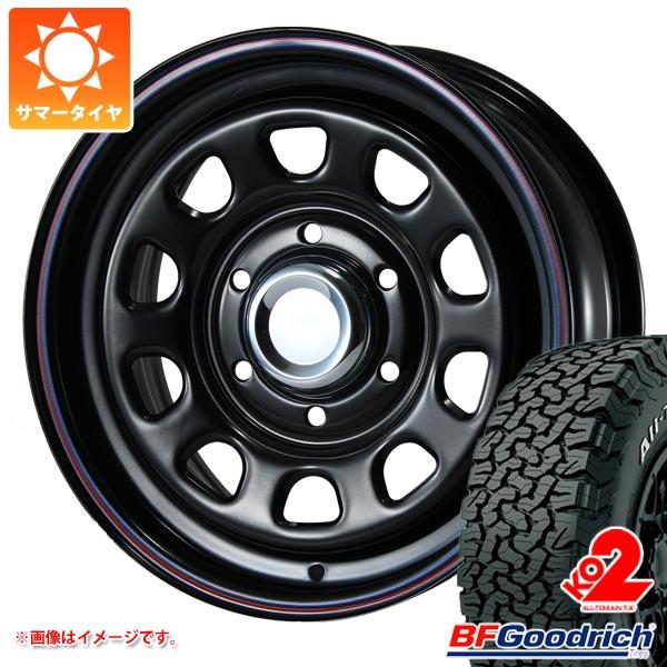 サマータイヤ 225/70R16 102/99R BFグッドリッチ オールテレーン T/A KO2 ホワイトレター デイトナ SS ブラック 7.0-16 タイヤホイール4本セット