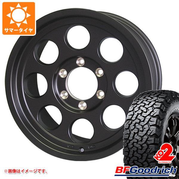 サマータイヤ 285/75R16 116/113R BFグッドリッチ オールテレーン T/A KO2 ホワイトレター ジムライン タイプ2 マットブラック 8.0-16 タイヤホイール4本セット