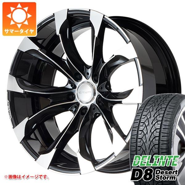 サマータイヤ 285/45R22 114V XL デリンテ D8 デザートストームプラス ヴァルド ジャレット J11-C LX/ランクル200用 10.0-22 タイヤホイール4本セット