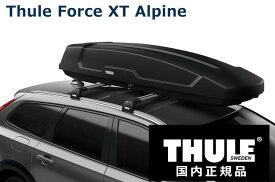 THULE ルーフボックス Force XT ALPINE ブラックエアロスキン TH6355 スーリー フォースXT アルパイン 代金引換不可