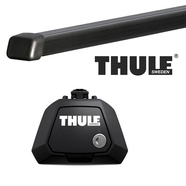 THULE スーリー フォルクスワーゲン ゴルフワゴン・ヴァリアント ルーフレール付 1J系(ゴルフ4ワゴン) 00〜07 ルーフキャリア取付1台分セット TH7104+TH7121セット