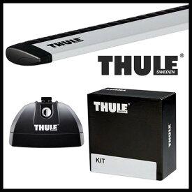 THULE スーリー スバル レガシィ・ツーリングワゴン ルーフレールなし BP5/BPE H15/5〜 ルーフキャリア取付1台分セット TH753+TH7111+TH3018セット