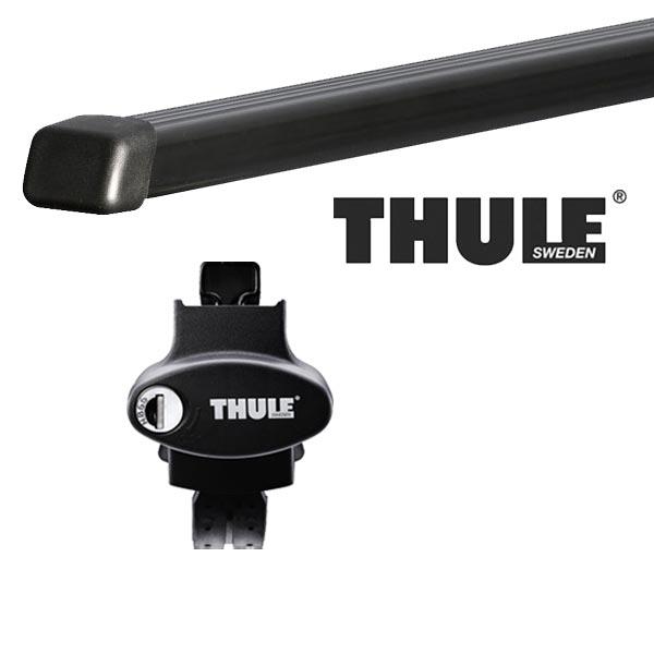 THULE スーリー フォルクスワーゲン ゴルフワゴン・ヴァリアント ルーフレール付 AUC系(ゴルフ7ワゴン) 14〜 ルーフキャリア取付1台分セット TH775+TH7122セット