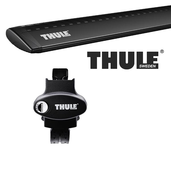 THULE スーリー フォルクスワーゲン ゴルフワゴンヴァリアント ルーフレール付 AUC系(ゴルフ7ワゴン) 14〜 ルーフキャリア取付1台分セット TH775+TH7112Bセット