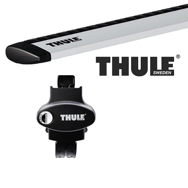 THULE スーリー フォルクスワーゲン ゴルフワゴンヴァリアント ルーフレール付 AUC系(ゴルフ7ワゴン) 14〜 ルーフキャリア取付1台分セット TH775+TH7112セット