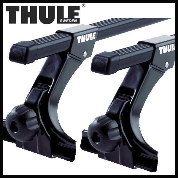 THULE スーリー ニッサン キャラバン/ホーミー(バン含む) 標準ルーフ E23/E24 S55/8〜H13/5 ルーフキャリア取付セット TH952+TH763セット