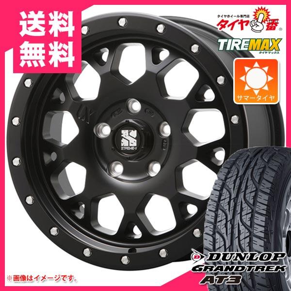 サマータイヤ 235/70R16 106S ダンロップ グラントレック AT3 ブラックレター エクストリームJ XJ04 SB レネゲード専用 6.5-16 タイヤホイール4本セット