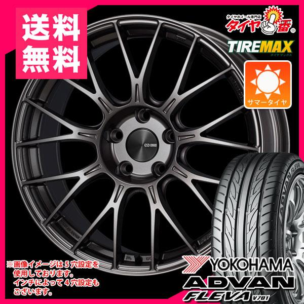 サマータイヤ 225/40R18 92W XL ヨコハマ アドバン フレバ V701 & ENKEI エンケイ パフォーマンスライン PFM1 8.0-18 タイヤホイール4本セット