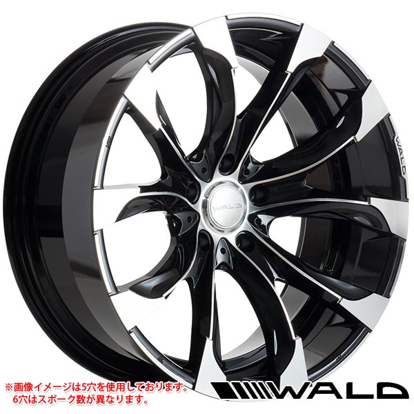 ヴァルド ジャレット J11-C 9.5-22 ホイール1本 WALD JARRET J11-C 150プラド