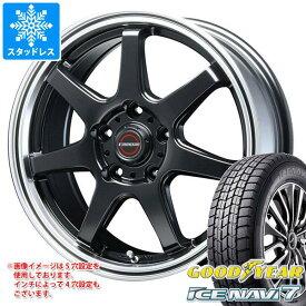 スタッドレスタイヤ グッドイヤー アイスナビ7 225/50R18 95Q & ブレスト ユーロマジック タイプ S-07 7.5-18 タイヤホイール4本セット 225/50-18 GOODYEAR ICE NAVI 7