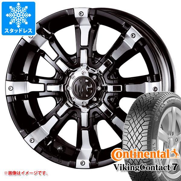スタッドレスタイヤ コンチネンタル バイキングコンタクト7 265/60R18 114T XL & クリムソン MG ビースト 8.5-18 タイヤホイール4本セット 265/60-18 CONTINENTAL VikingContact 7
