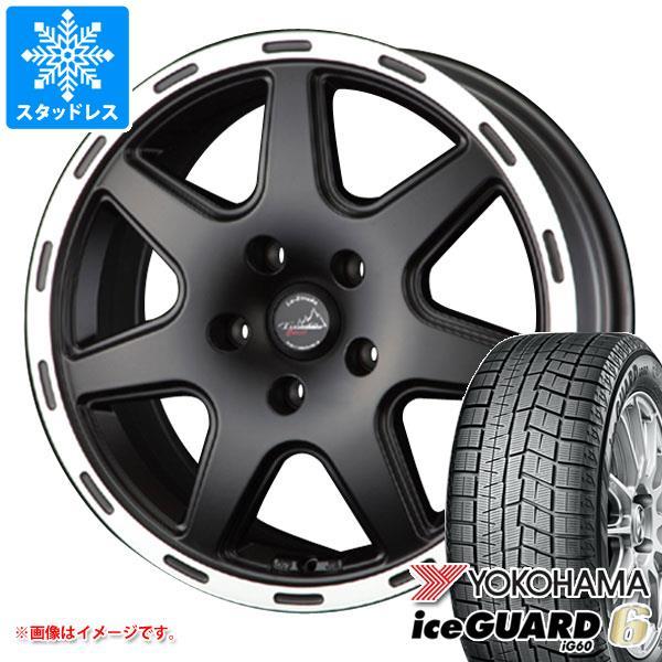 スタッドレスタイヤ ヨコハマ アイスガードシックス iG60 215/60R17 96Q & ティラード クロス ブラック レネゲード専用 7.0-17 タイヤホイール4本セット 215/60-17 YOKOHAMA iceGUARD 6 iG60
