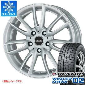 MINI クロスオーバー F60用 スタッドレス ダンロップ ウインターマックス02 WM02 225/50R18 95Q MAK ジャッキー シルバー タイヤホイール4本セット