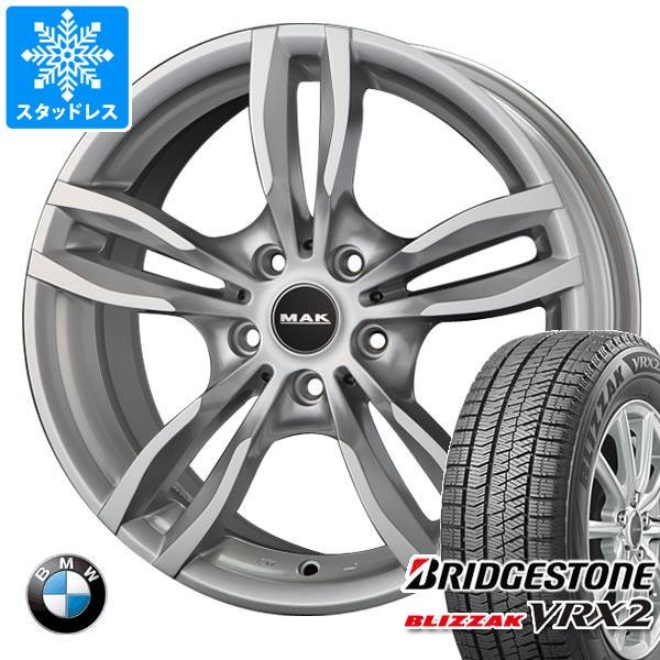 BMW F25 X3用 スタッドレス ブリヂストン ブリザック VRX2 245/50R18 104Q XL MAK ルフト シルバー タイヤホイール4本セット
