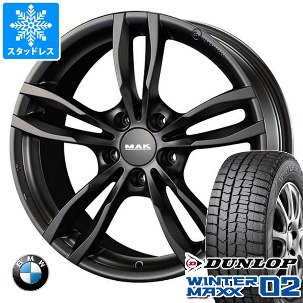 BMW F32/F33 4シリーズ用 スタッドレス ダンロップ ウインターマックス02 WM02 225/50R17 94Q MAK ルフト ブラック タイヤホイール4本セット