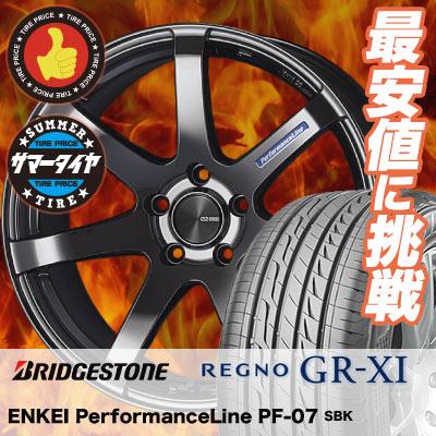 235/40R19 92W BRIDGESTONE ブリヂストン REGNO GR-XI レグノ GR クロスアイ ENKEI PerformanceLine PF-07 エンケイ パフォーマンスライン PF07 サマータイヤホイール4本セット