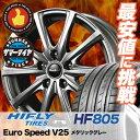 205/55R17 HIFLY ハイフライ HF805 HF805 EuroSpeed V25 ユーロスピード V25 サマータイヤホイール4本セット