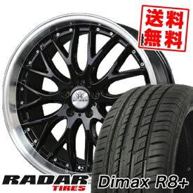 215/45R18 RADAR レーダー DimaxR8+ ディーマックス アールエイト プラス BADX LOXARNY MULTIFORCHETTA バドックス ロクサーニ マルチフォルケッタ サマータイヤホイール4本セット