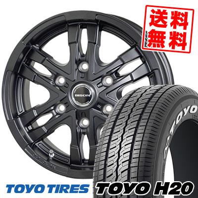 195/80R15 107/105L TOYO TIRES トーヨー タイヤ H20 H20 BISON BN03 バイソン BN-03 サマータイヤホイール4本セット for 200系ハイエース