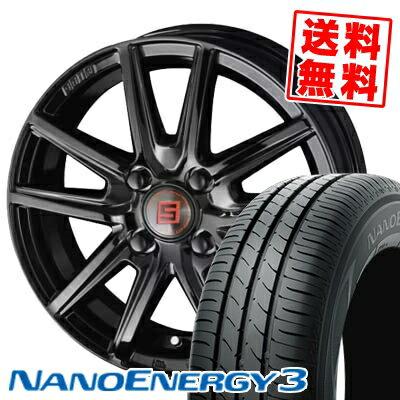 155/70R13 75S TOYO TIRES トーヨー タイヤ NANOENERGY3 ナノエナジー3 SEIN SS BLACK EDITION ザイン エスエス ブラックエディション サマータイヤホイール4本セット